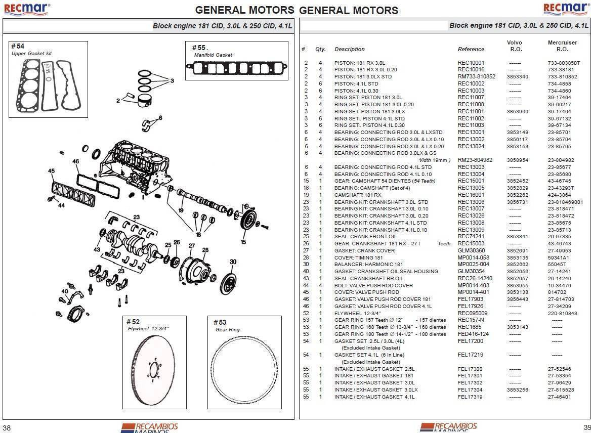 Engine Parts :: GM/Ford Block Parts :: 3.0L 181 CID