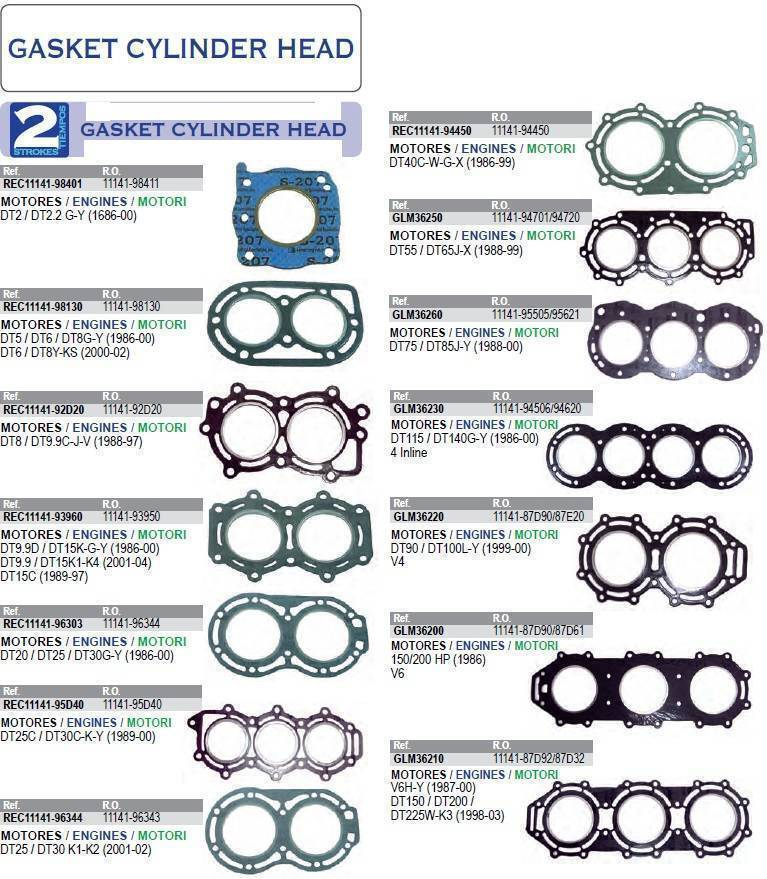 Cylinder Head Gasket 2 Per Engine 07v103147: Engine Parts :: Suzuki :: Engine Parts :: Gaskets :: 2